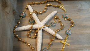 Aqua Square Rosary