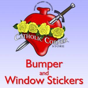 catholic corner window stickers